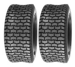Two 13x5.00-6 13x5-6 Turf Lawn Mower Tires 4 Ply Rated