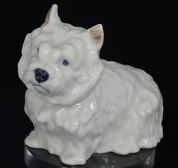 RARE VINTAGE DANISH ROYAL COPENHAGEN #4918 WHITE WEST HIGHLAND TERRIER DOG