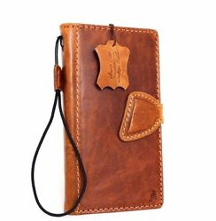 Genuine Vintage Leather Case For Htc One M9 Book Wallet Cover Magnet Id Retro Il