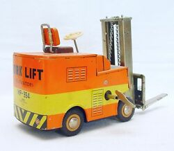 China Mf-994 Yale Fork Lift 23cm Tin Friction Toy Car Wind-up Action Nm`65 Rare