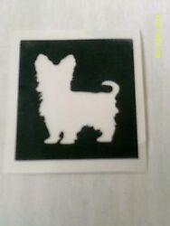 10 - 400 Yorkshire Terrier Yorkie Dog Stencils For Etching Glass