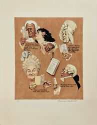 Norman Rockwell The Royal Crown 1973 | Signed Print | Poor Richardand039s Almanac