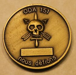 1st Special Forces Group Airborne 2nd Battaion Oda 151 Army Challenge Coin