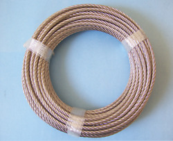304 Stainless Steel Wire Rope Cable 1/4 7x19 100 Ft Made In Korea