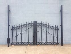 Vintage REAL wrought Iron driveway gate complete restoration done.