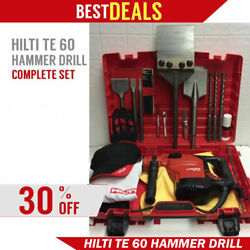 Hilti Te 60 Hammer Drill, Preowned, Original, Free Extras, Strong, Fast Ship