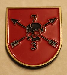 7th Special Forces Group Airborne 3rd Battalion Red Flash Army Challenge Coin