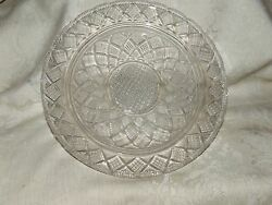 Lovely Antique 1830+ Eapg Boston And Sandwich Lacy Shallow Bowl Or Service Plate