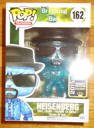 Sdcc 2015 Funko Pop Breaking Bad Heisenberg Blue Sky Crystal Variant Figure
