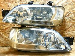 2000 2003 JDM MITSUBISHI LANCER CEDIA GDI CS2A CS5W SILVER CHROME HEADLIGHTS OEM