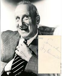 Jimmy Durante Hand Signed Card Autographed With Photo Comic Legend In Television