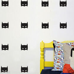 42 Super Hero Batman Mask Removable wall stickers for Kids Nursery Vinyl decal