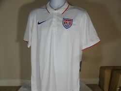 Nike Mens Us National Soccer Team 2014/2015 World Cup Home Jersey White Usa 90