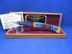 Buck 110 David Yellowhorse Kit Carson Knife Mint With Coa And Wood Display Case