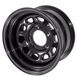 Black 15x8 D Window Steel Wheel 5x5.5 for Jeep CJ 1955 1986 391550010 Outland
