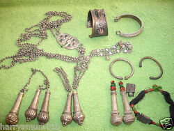 Collection Antique Tribal Indian Kashmir Afghanistan Silver Jewelry Jewellry