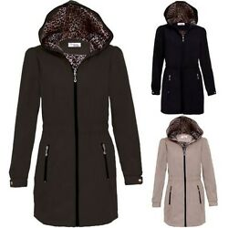 Ladies Hooded Shower Proof Lined Womenand039s Casual Lightweight Raincoat Jacket