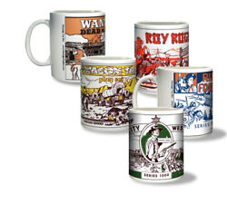 Ceramic Mugs Featuring Your Favorite Marx Western Play Set Boxes