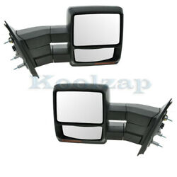 07-14 F150 Truck Towing Mirror Power Heated Memory Puddle And Signal Lamp Pair Set