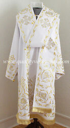 Orthodox Bishopand039s Vestment White Embroidered Or Any Color