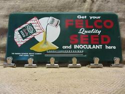 Vintage Felco Seed Thermometer Antique Iowa Feed Sign 9317