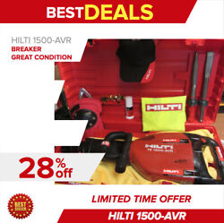 Hilti Te 1500-avr Breakermade In Germany/ Hilti Chisels And Free Extrasfast Ship