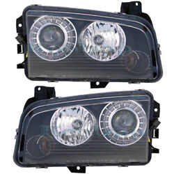 08-10 Charger Hid Headlight Headlamp Front Head Light Left And Right Side Set Pair