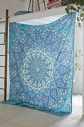 Indian Star Hippie Wall Hanging Mandala Tapestry Blue Throw Ethnic Bedspread