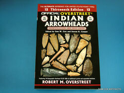 BRAND NEW Custom Cover Signed Copy 13th Overstreet Guide Indian Arrowheads $16.95