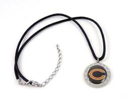 Nfl Fashion Jewelry Chicago Bears Crystal Circle Pendant Necklace