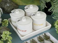 Williams-sonoma Bbq Condiment Jar Set –nib– Dress Up Eats With Style On The Side
