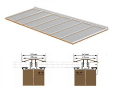 Complete Timber Supported Polycarbonate Roof Kit 6 Metre Long 9 Metre Wide.