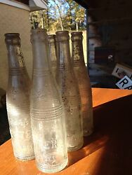 6 Richey's Better Beverages Embossed Bottle - Indianola, Ms,mississippi