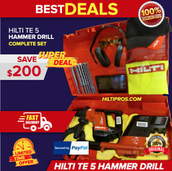 Hilti Te 5 Drill W/ Drs, Free Bits And Tablet, Made In Germany,complete, Fast Ship