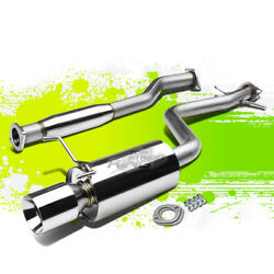 4rolled Tip Muffler Performance Catback Exhaust Kit For Altezza Is 300 2jz Xe10
