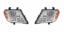 Fits 09-17 Frontier Left And Right Set Headlamp Assemblies