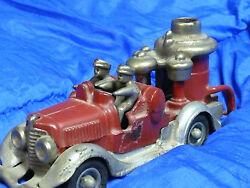 hubley 1930 cast iron toy fire truck