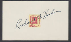 Richard Harden White House Assistant Signed Liberty Drum Stamp On Card