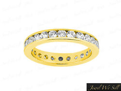 3.00ct Round Diamond Channel Set Anniversary Eternity Band Ring 14k Gold G Si1
