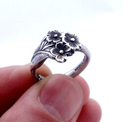 Reed And Barton Sterling Silver Ring Silver Spoon Ring Forget Me Not Silver Ring