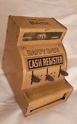 tin toy happy days cash register bank j
