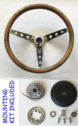 New1966 Dodge Charger Grant Wood Walnut Steering Wheel 15