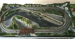 z scale train layout rokuhan track free