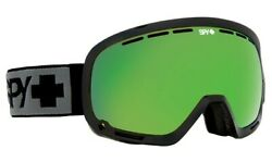 SPY PLATOON GOGGLES MATTE BLACK FRAME BRONZE w/ GREEN SPECTRA + YELLOW CONTACT
