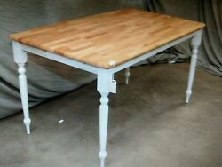 4 Wood Cafe Restaurant Farm Country Tables Table 60 X 30 1/2 X 30h T15