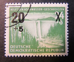 Ebs East Germany Ddr 1955 Aid For Flood Victims Michel 449 Cto