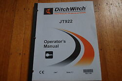 Ditch Witch Jt922 Horizontal Directional Drill Operation Operator Owner Manual