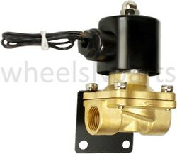1/2npt Brass Valve 12v Electric Solenoid And Mounting Bracket Air Ride Suspension