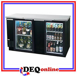 Beverage-air Bev Air Bb68hc-1-g-b Back Bar Refrigerator Glass Door Black Finish