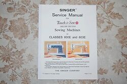 Singer Authorized Service Manual On Cd For Classes 600e And 603e Sewing Machines